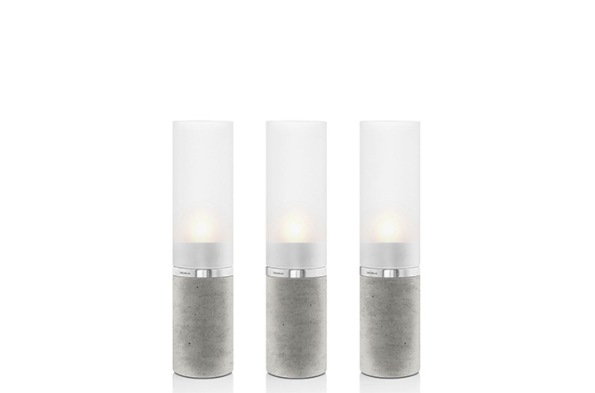 Faro Set of 3 Concrete Tealight Holders by Blomus