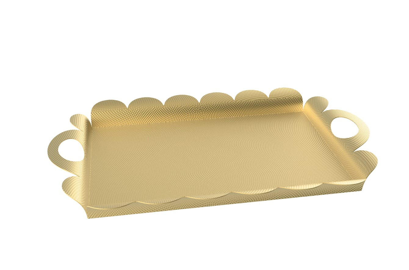 Recinto Brass Tray by Alessi
