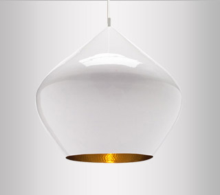 Beat Light White Pendant – Stout by Tom Dixon