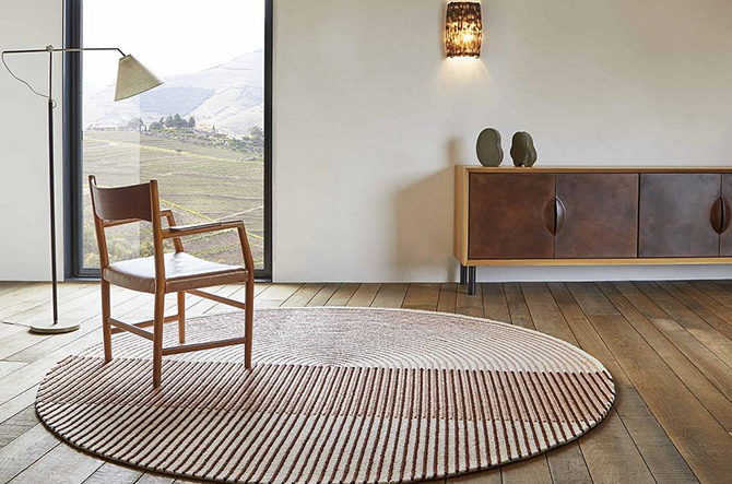 Ply Round Area Rug by Gan Rugs.