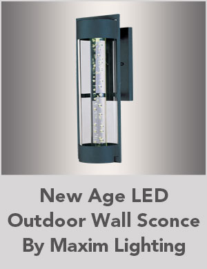New Age LED Outdoor Wall Sconce By Maxim Lighting