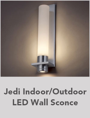 Jedi Indoor/Outdoor LED Wall Sconce