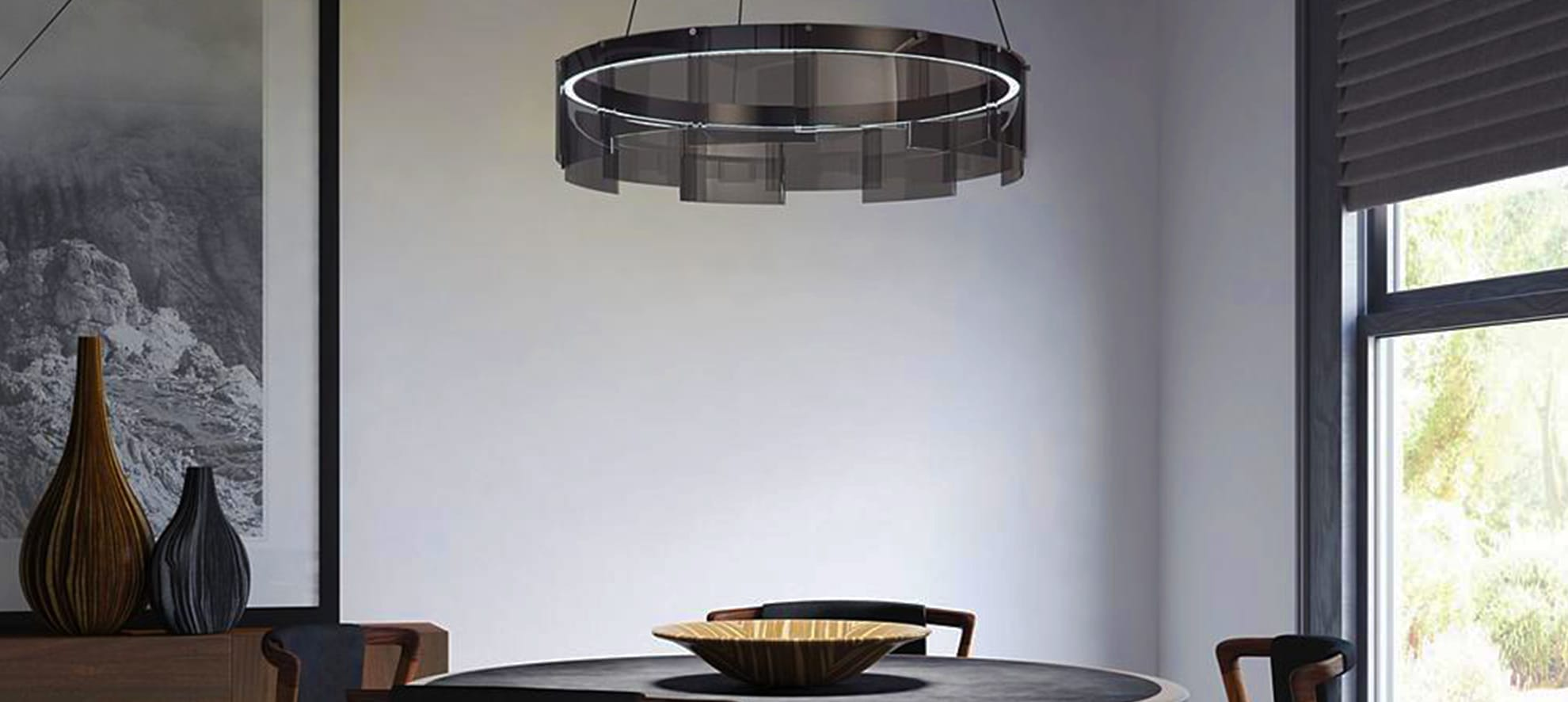 Stratos LED Chandelier by Tech Lighting