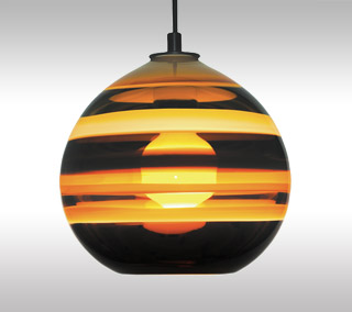 Banded Orb Pendant
