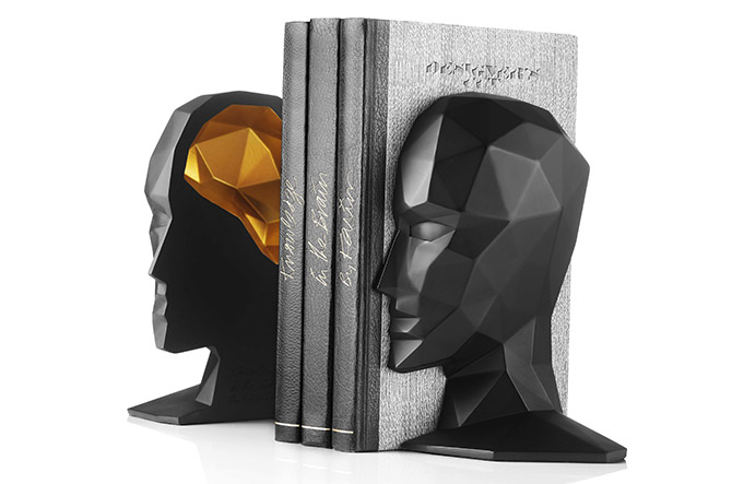Knowledge in the Brain Bookends by Karim Rashid for Menu