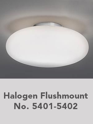 Halogen Flushmount No. 5401-5402
