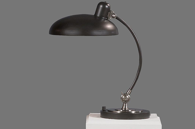 Bruno Adjustable C Arm Desk Lamp by Robert Abbey