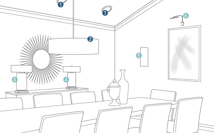Dining Room Lighting Planner