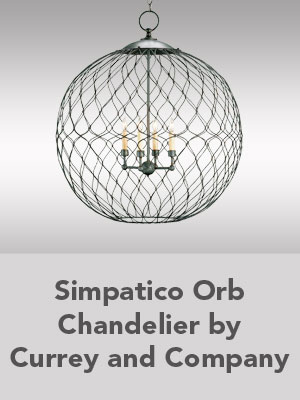 Simpatico Orb Chandelier by Currey and Company