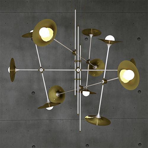 Bullarum ST-12 Chandelier with Discs by Intueri Light