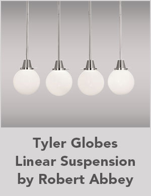 Tyler Globes Linear Suspension by Robert Abbey