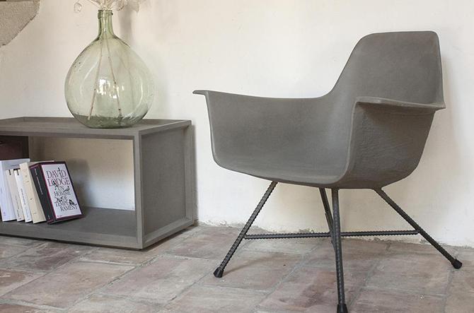 Hauteville Low Armchair by Lyon Beton