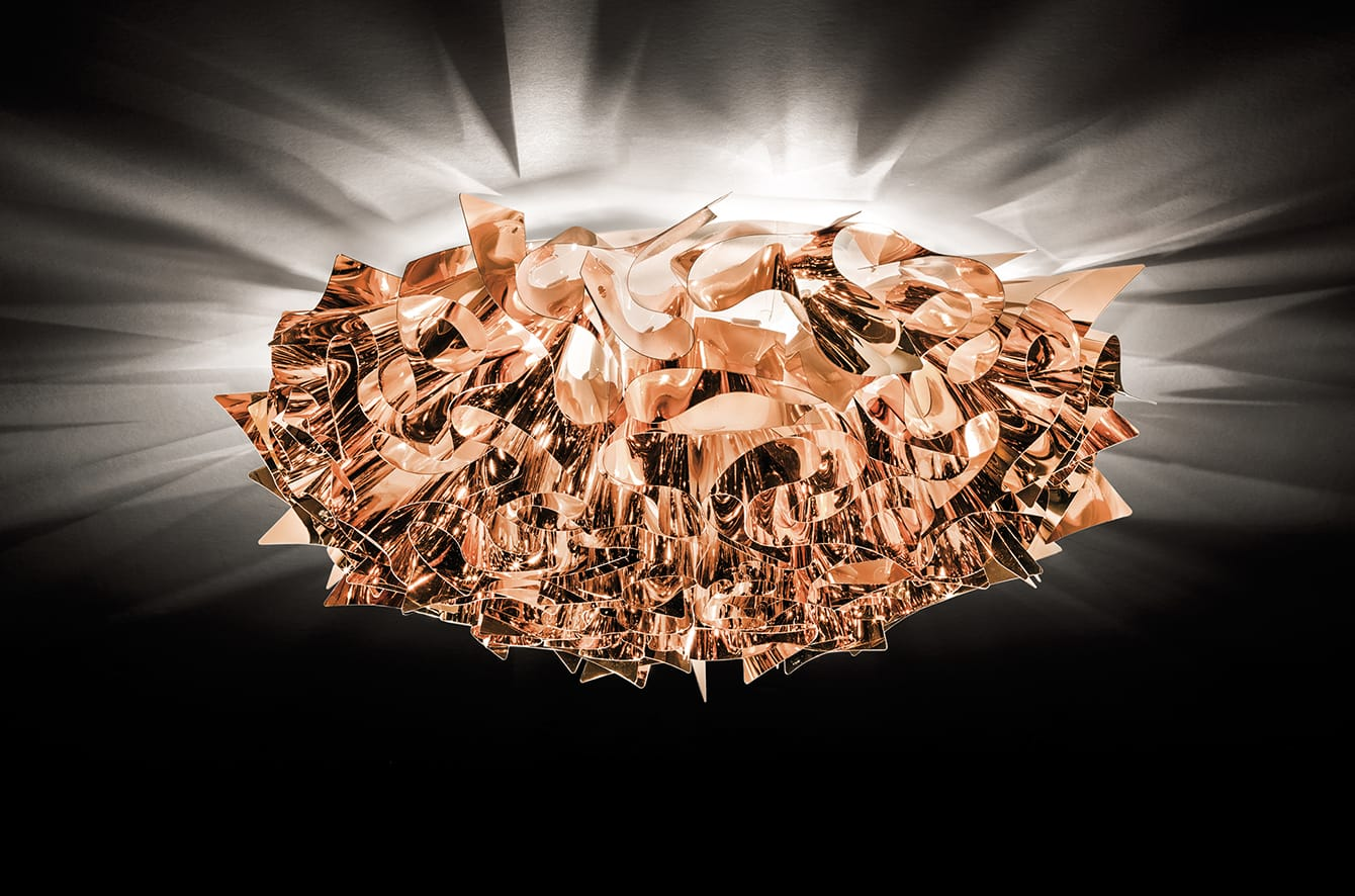Veli Metal Wall/Ceiling Light by Slamp