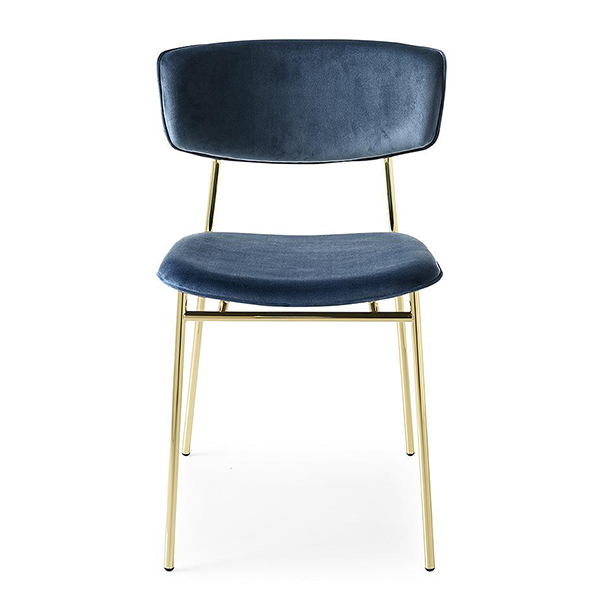 Fifties Upholstered Metal Chair by Calligaris.