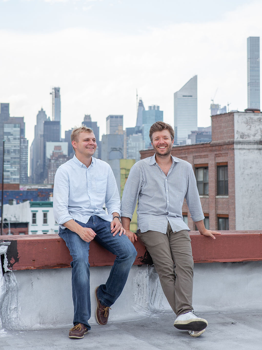 Stickbulb founders Russel Greenberg and Christopher Beardsley.