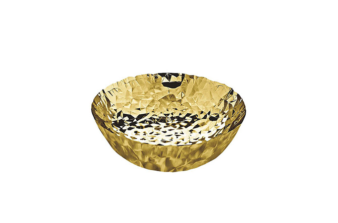 Joy No. 11 Gold Basket by Alessi.