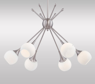 Pontil 6-Light Chandelier By George Kovacs