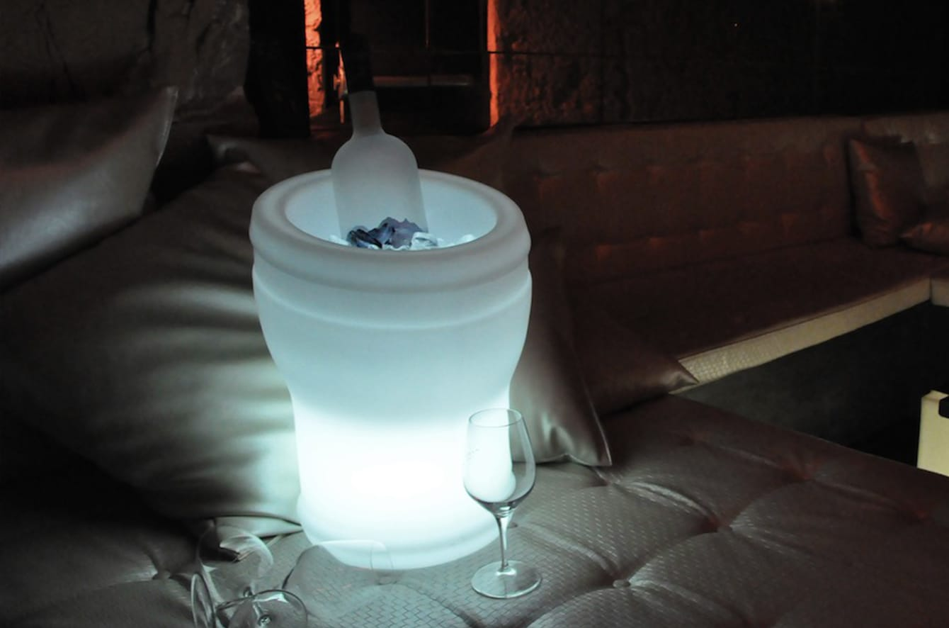 Illuseo LED Champagne Cooler by Smart & Green