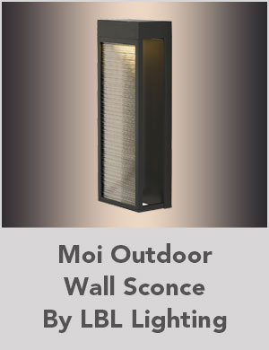 Moi Outdoor Wall Sconce By LBL Lighting