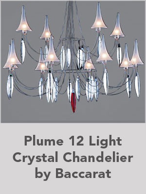 Plume 12 Light Crystal Chandelier by Baccarat