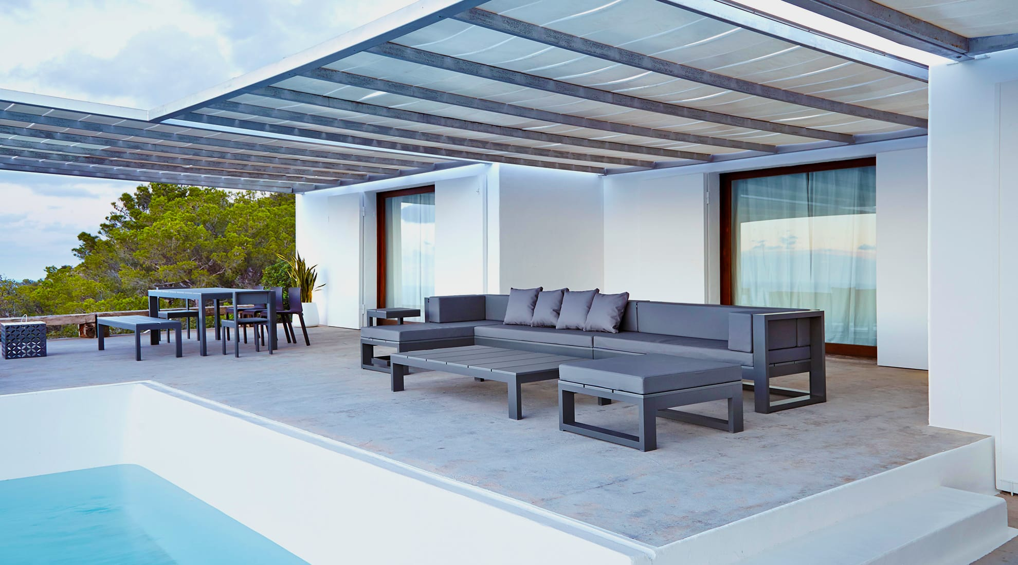 Another view of Gandia-Blasco's Ibiza home