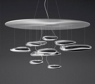 Mercury LED Suspension By Ross Lovegrove for Artemide