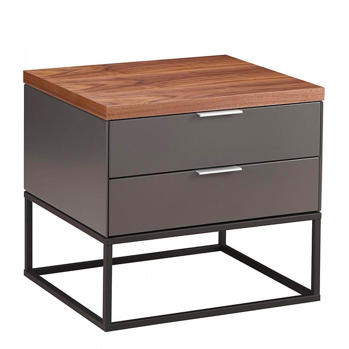 Leroy Side Table with Drawers by DesignIt by Moe's.