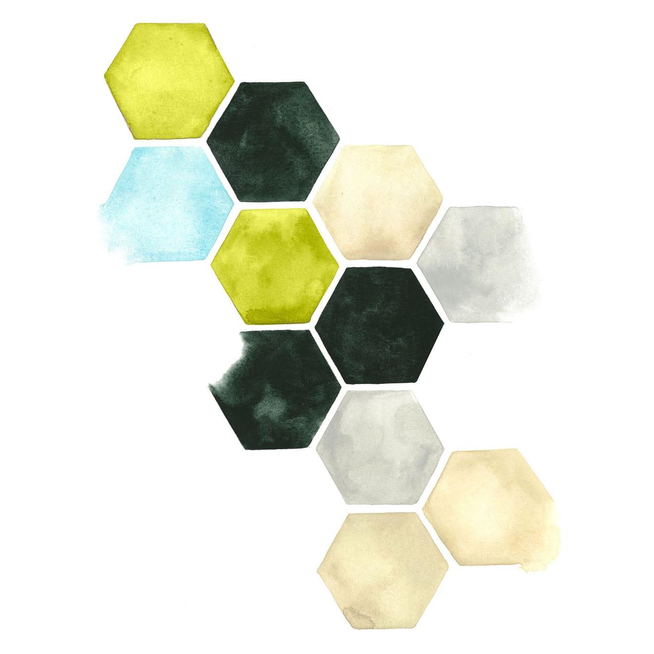 Hazed Honeycomb II by Grace Popp