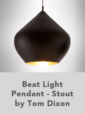 Beat Light Pendant - Stout by Tom Dixon