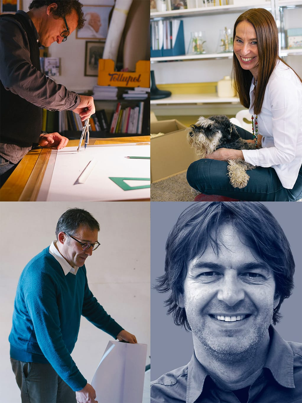 Gonzalo Milà, Joana Bover, Christophe Mathieu, Alex Fernández Camps