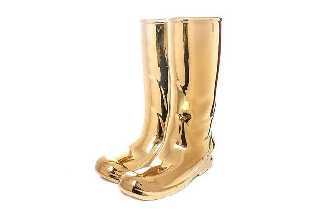 Rainboots Umbrella Stand-Gold Limited Edition by Seletti