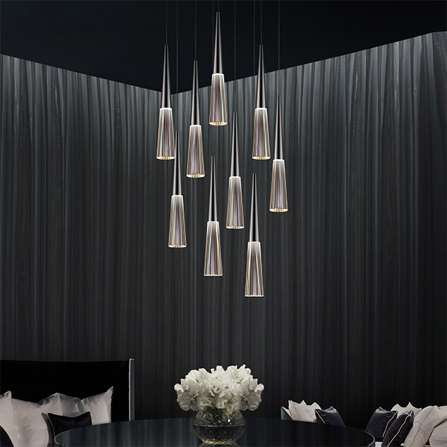 Spire, Rain and Trinity by Robert Sonneman for SONNEMAN Lighting.