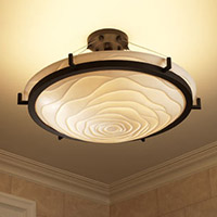 hallway lighting semiflushmounts image