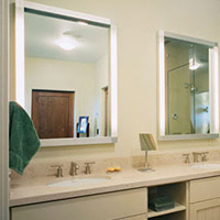 bathroom lighting fixtures. Bathroom Lighting Lighted Mirrors Fixtures