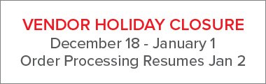 <!--HOLIDAY SHIP TIMES VARY-->