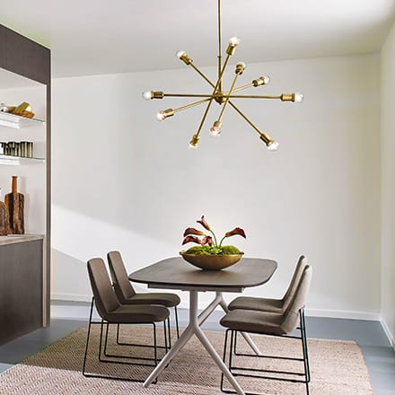 Chandeliers and Linear Suspension